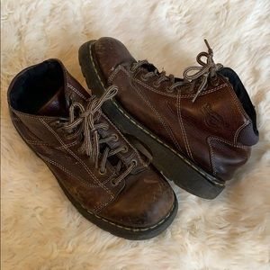 Dr Martens leather work boots